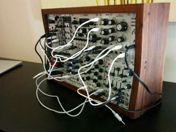 Modular Synth 6U, patched